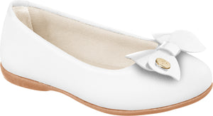 Pampili girls white ballet shoe