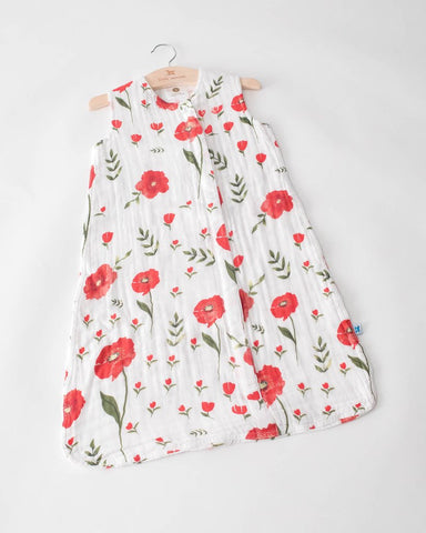 Cotton Muslin Sleep Bag- Summer Poppy