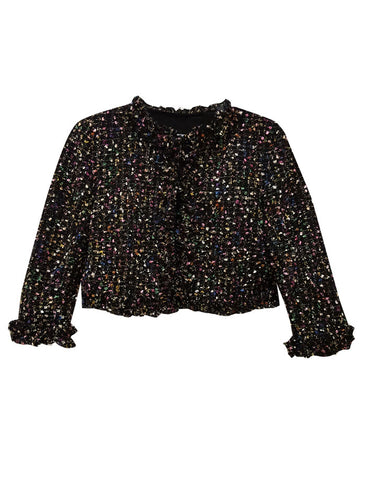 Knit Bouclé Cropped Jacket