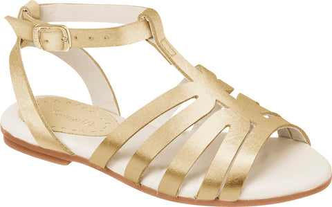 Pampili gold leather sandal
