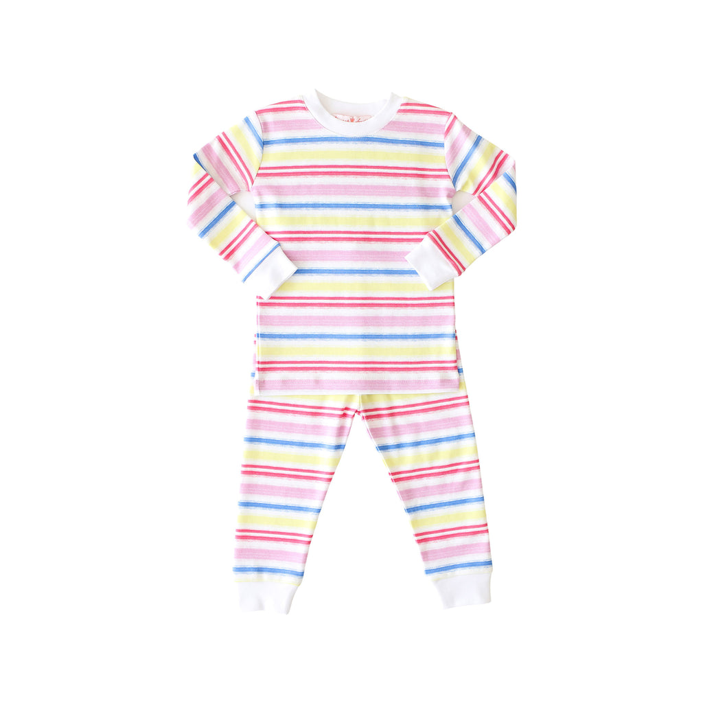 Pineapple Sunshine Rainbow Stripe 2-piece Pajama