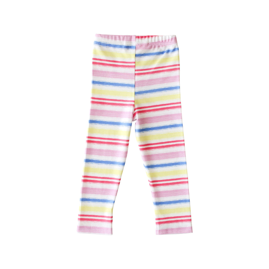 Pineapple Sunshine Rainbow Stripe Leggings - Little Birdies