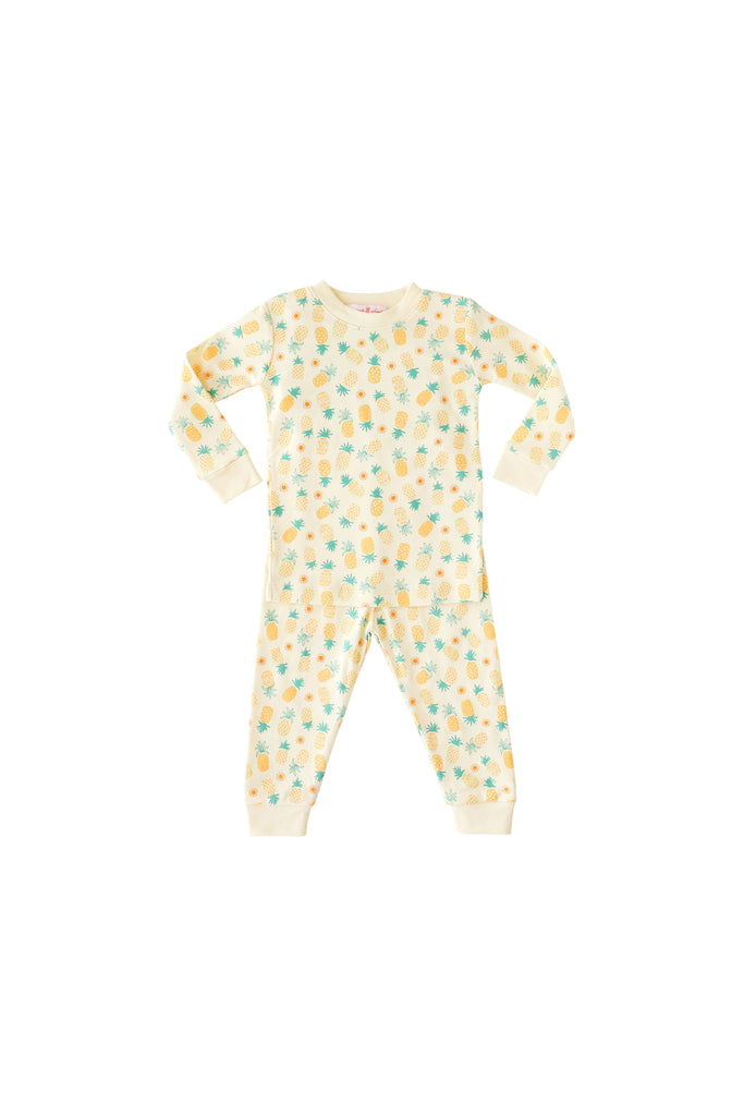 Pineapple Sunshine Pineapple Print 2-Piece Pajama