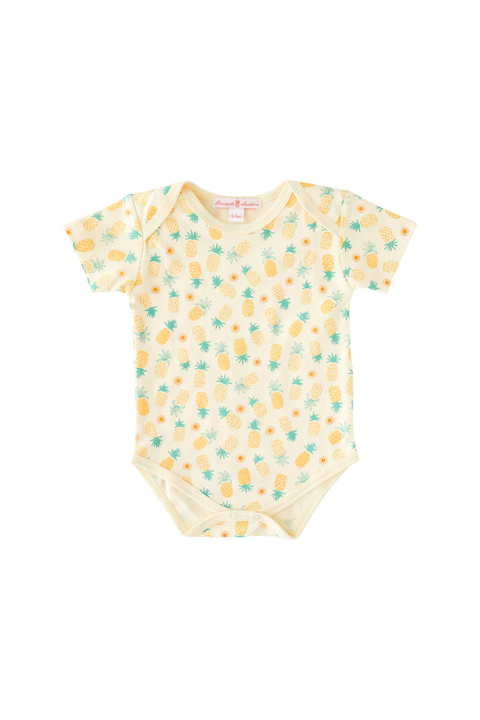 Pineapple Sunshine Pineapple Print Onesie