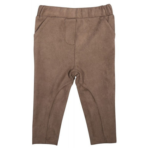 Faux Suede Riding Pant