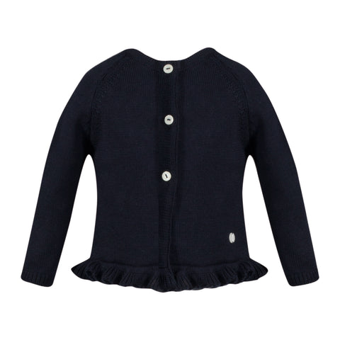 patachou girls navy knit cardigan