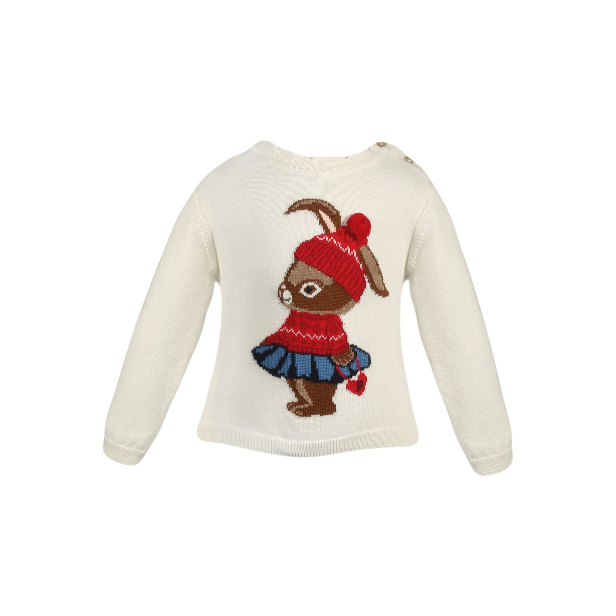 patachou girls bunny holiday sweater