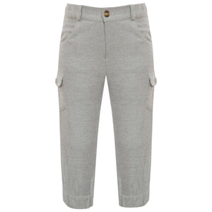 Grey Herringbone Pant