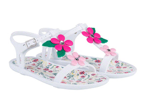 Tricia Floral Jelly Shoe