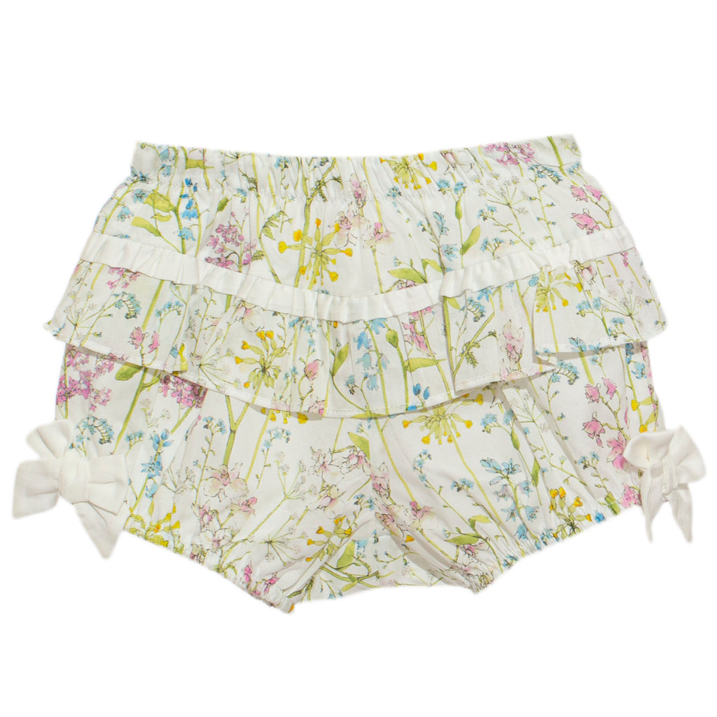 patachou baby girl liberty print bloomer short