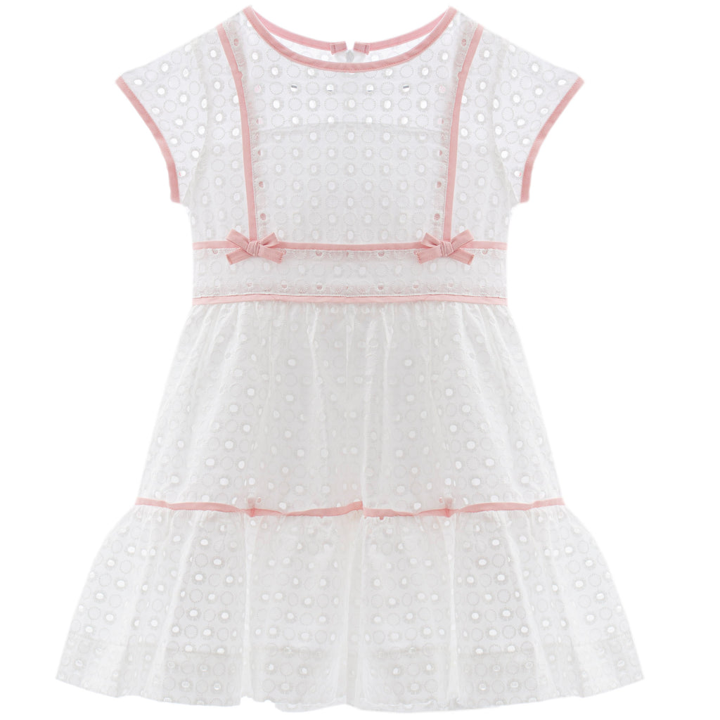 patachou girls white eyelet dress