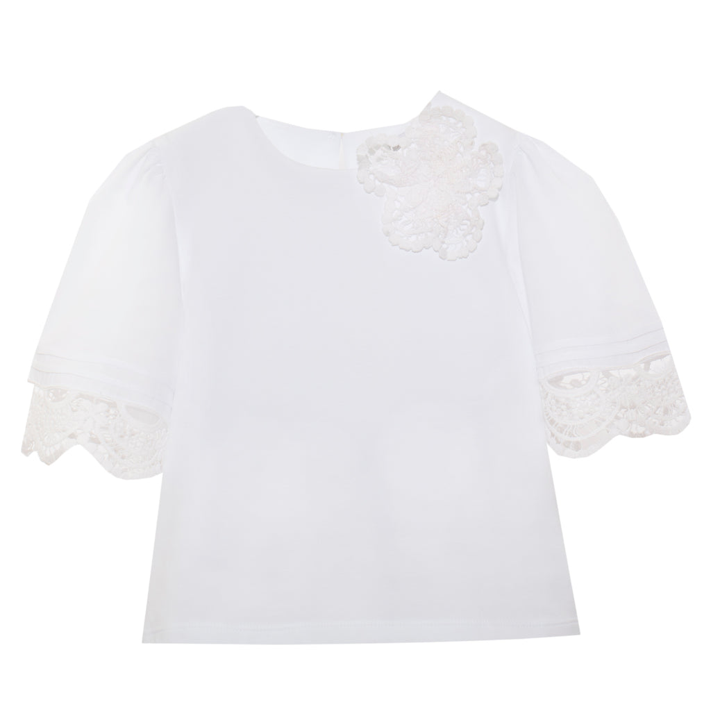 Patachou white eyelet blouse top for girls