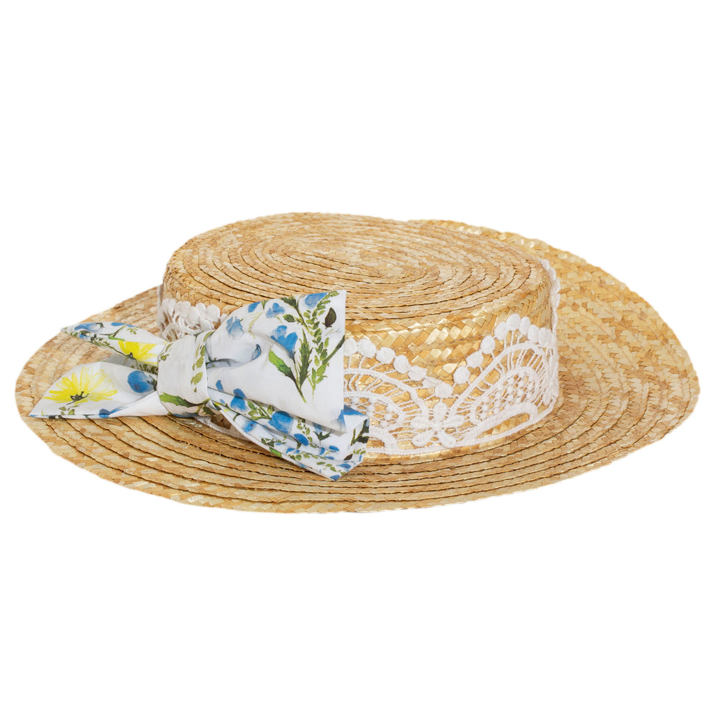 patachou girls straw hat