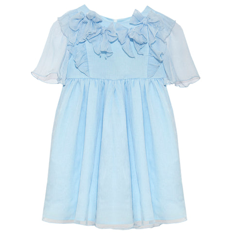 Patachou girls chiffon dress with rosettes spring 20