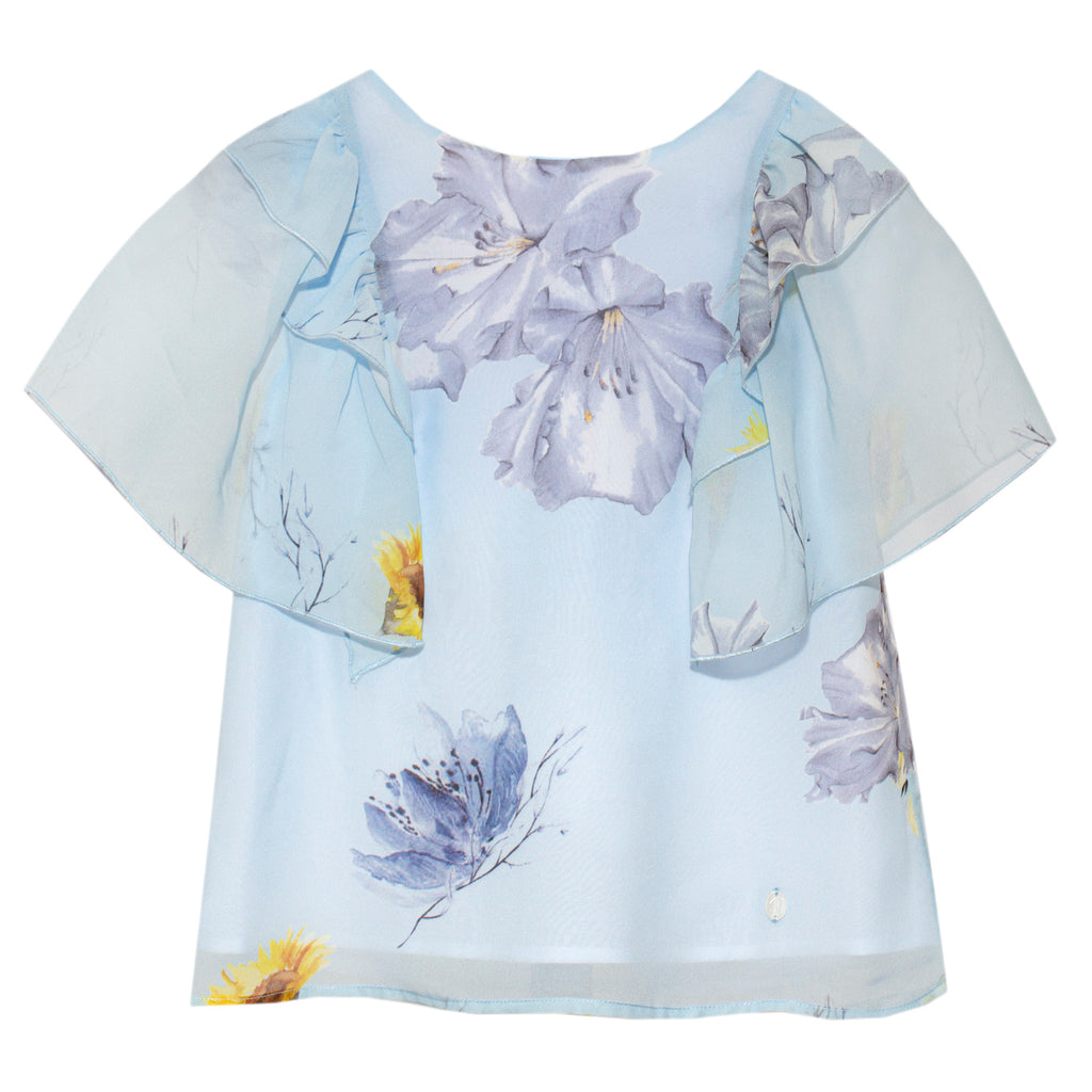 patachou girls floral blouse top
