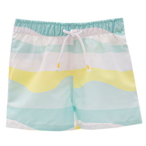 Mint Wave Swim Shorts
