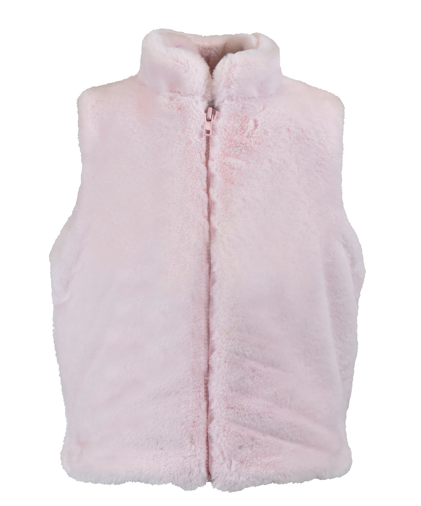 Pink Cotton Candy Zip Up Vest