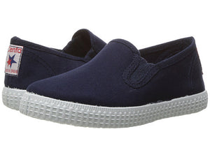 Navy Canvas Slip On