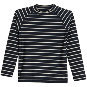 wheat clothing navy stripe swim shirt
