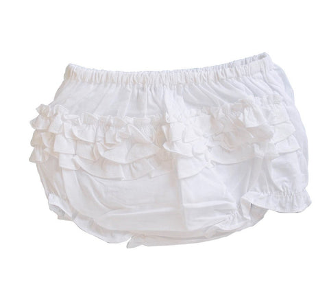 White Ruffle Bloomers