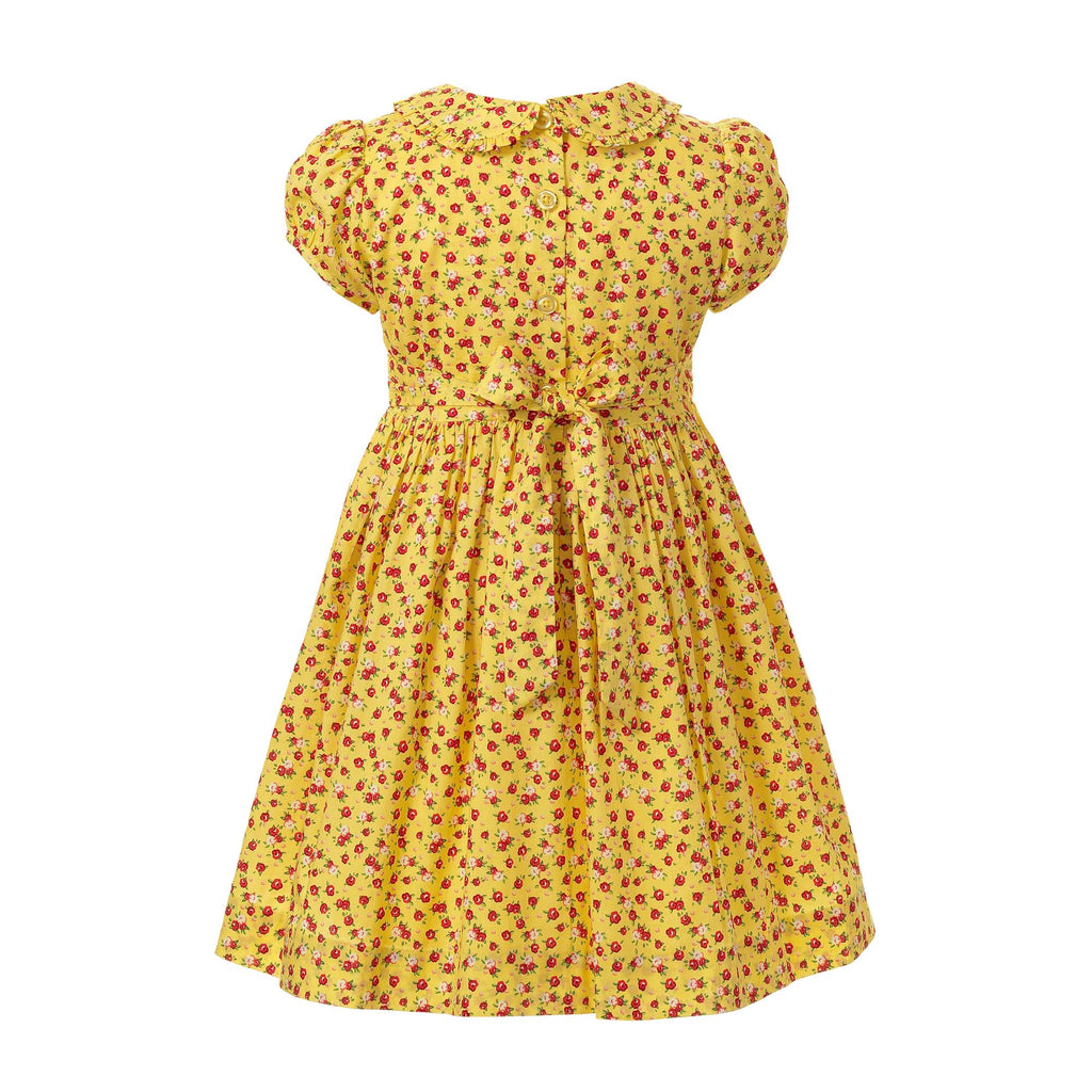 Rachel Riley Yellow Floral Frill Dress