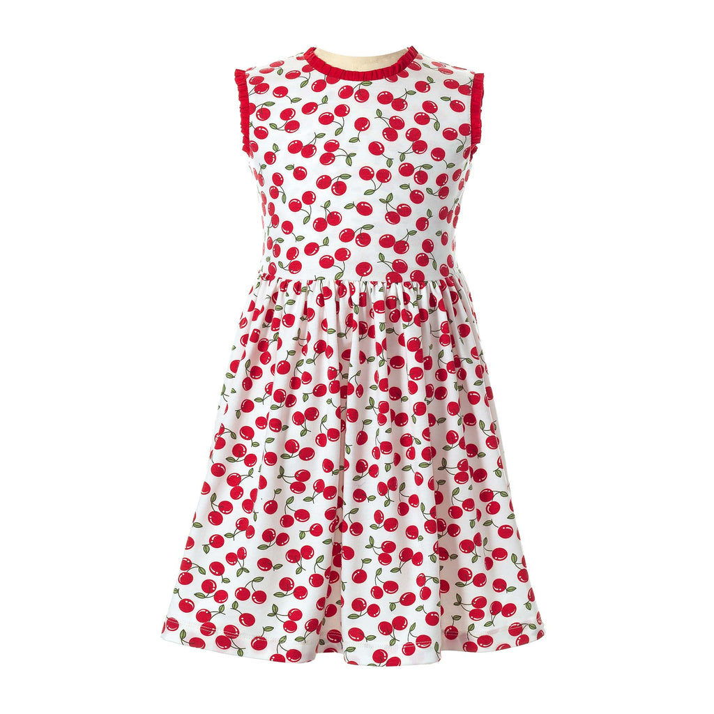 Cherry Patterned Jersey Dress