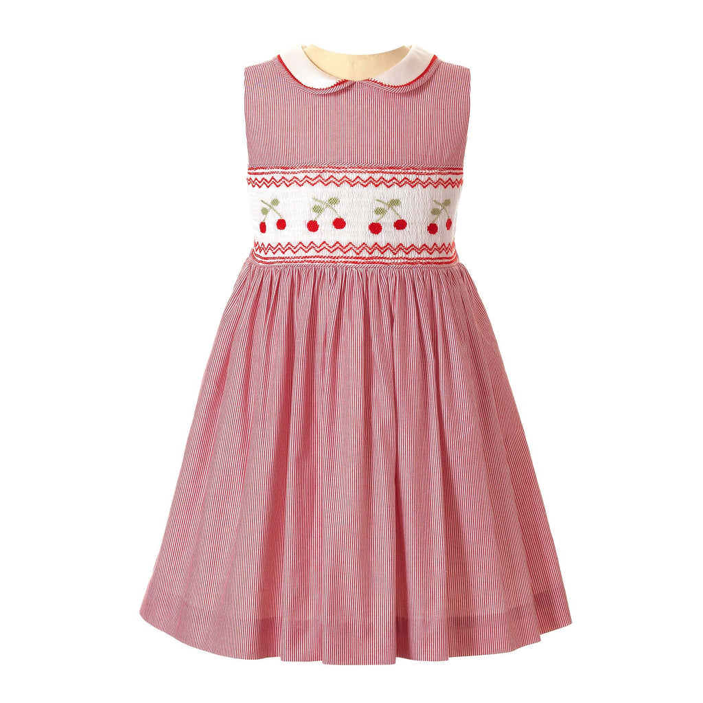 Cherry Smocked Dress with Bloomers