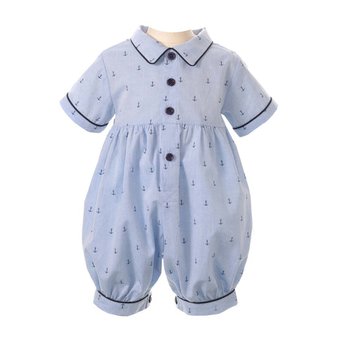 Blue Babysuit with Anchors