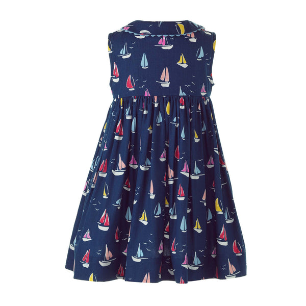 Sleeveless Sailboat Button-front Dress