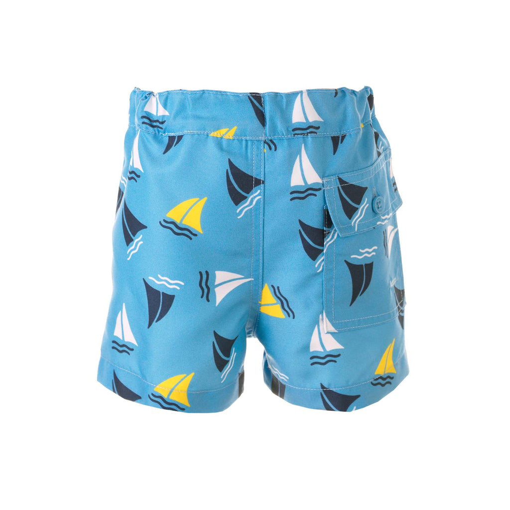 Blue Sailboat Swimshorts