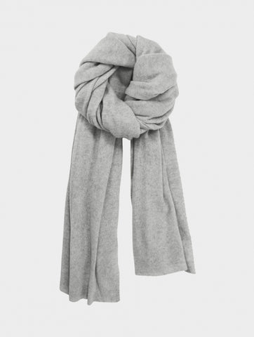 Cashmere Travel Wrap in Misty Grey