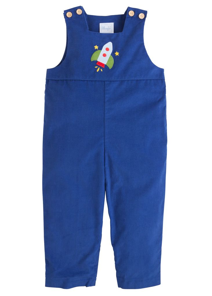Little English Rocket Applique overall little birdies boutique