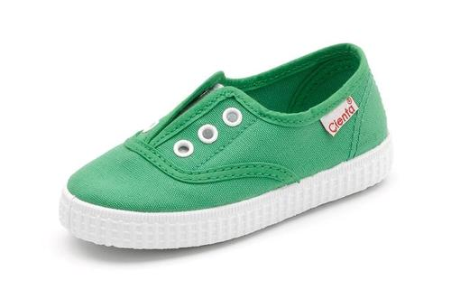 cienta shoes green verde laceless slip on - little birdies boutique