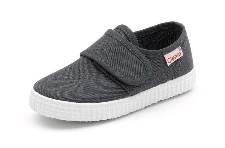 Cienta single strap velcro sneaker dark grey 58000.74