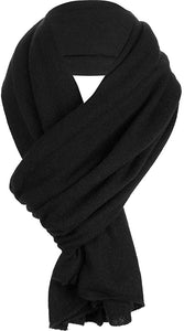 white and warren black cashmere travel wrap