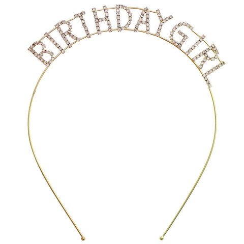 Birthday Girl Rhinestone Headband