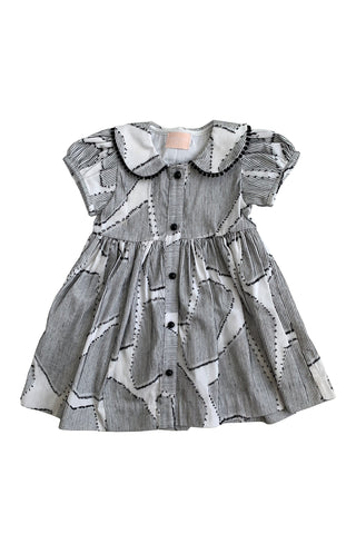 harrison bell hunter bell nyc black and white girls minnie dress