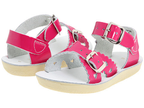 hoy shoes salt water sandal sweetheart surfer fuschia sun san