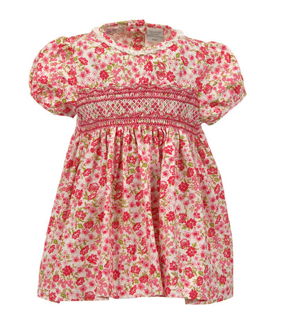 carriage boutique floral dress with smocking