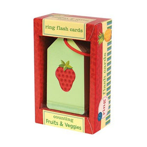 Counting Fruits & Veggies Ring Flash Cards