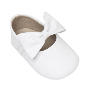 Baby Ballerina with Bow- White