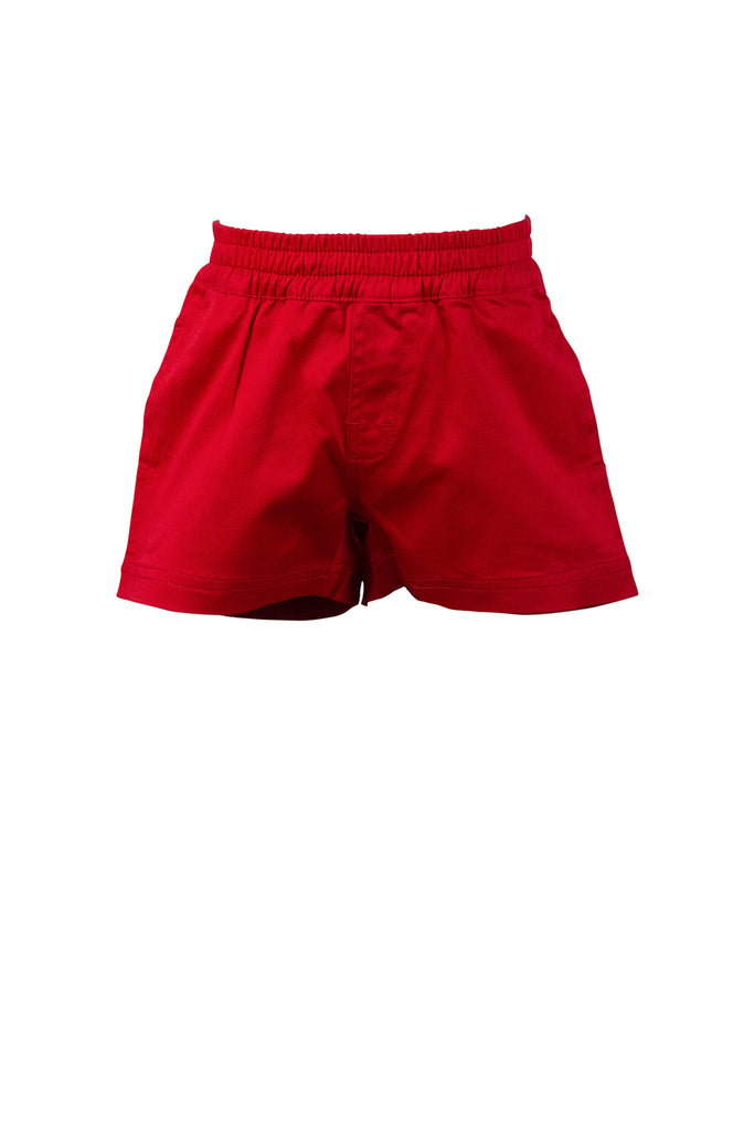 The Proper Peony Spencer Shorts- Red