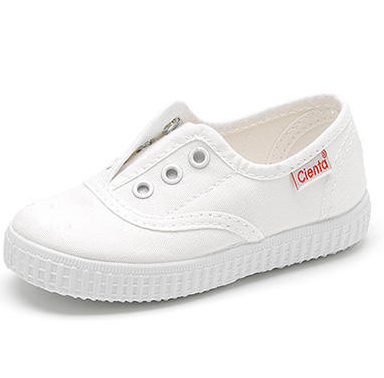 cienta shoe laceless slip on sneaker white