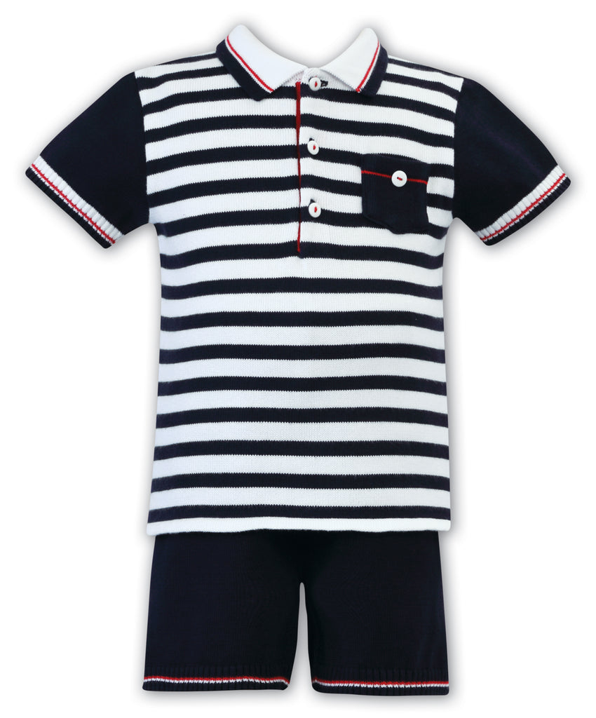 Sarah Louise Knit Nautical short set