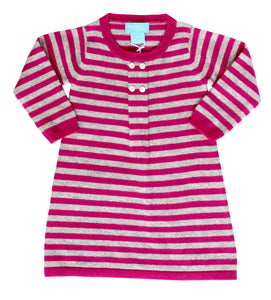 Pink Striped Cashmere Dress