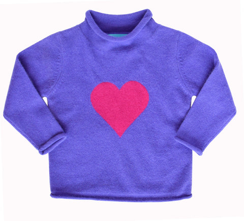 Intarsia Heart Sweater