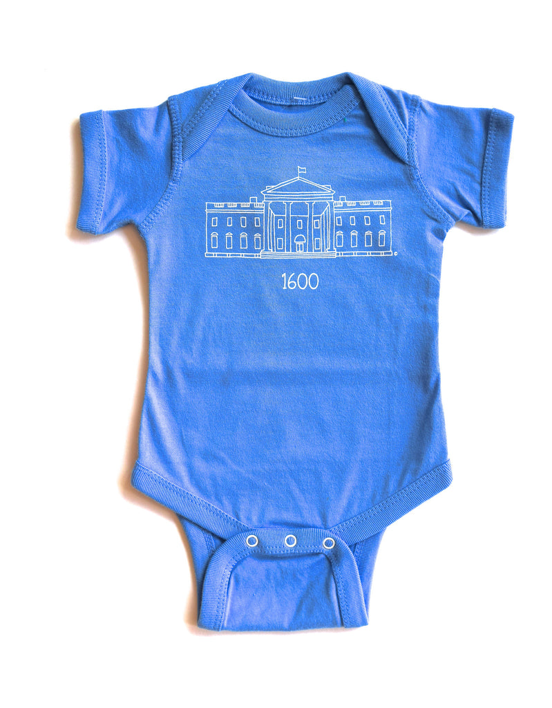 "Carolina Blue ""1600"" Onesie"