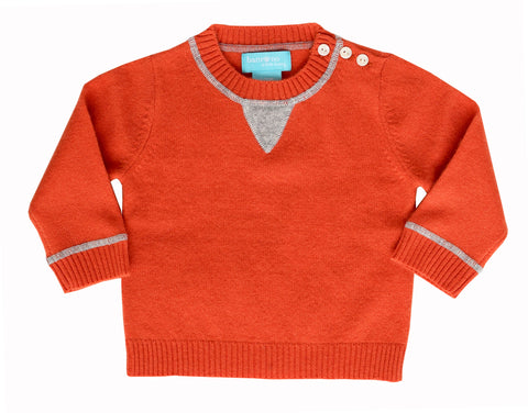 Orange Cashmere Crewneck