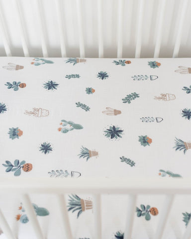Prickle Pots Cotton Crib Sheet