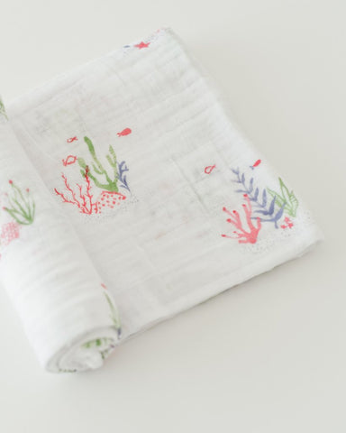 Cotton Swaddle - Sea Floor